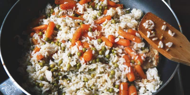 comidas saludables con arroz