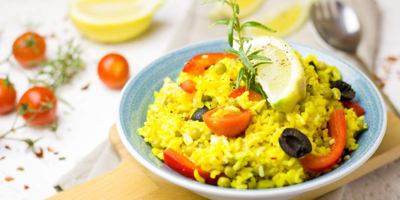 ensaladas saludables con arroz